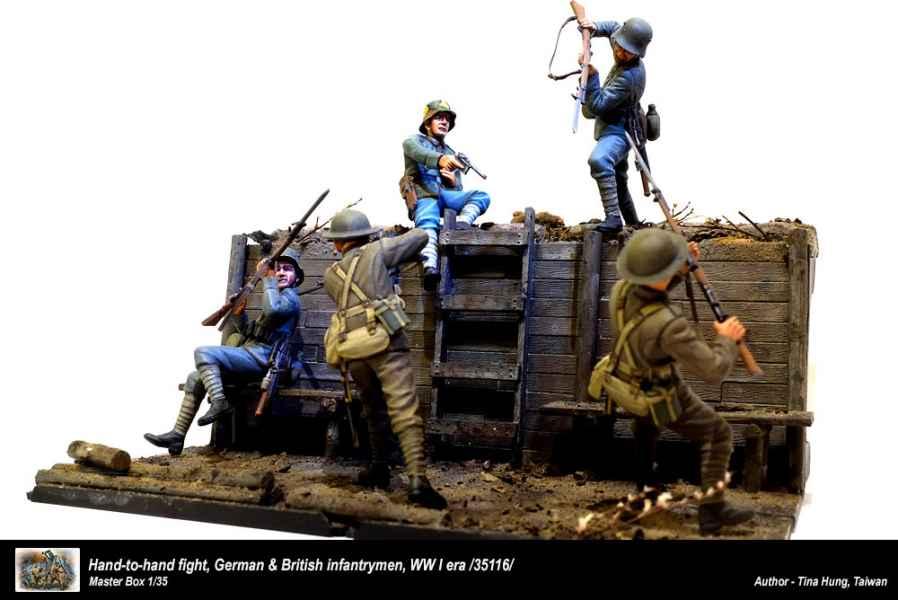 Hand To Handfight German /& British WWI 135 Scale Fight Masterbox 1:35