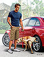 What he really thinks of your car. Bart and Radley (dog) /24049/