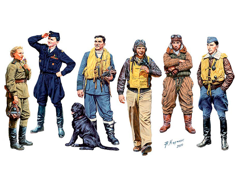 Famous pilots of WW II. Kit 1 /3201/