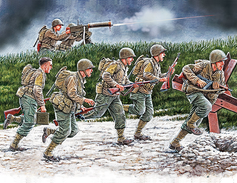 «Move, move, move!!!» US Soldiers, Operation Overlord period, 1944 /35130/