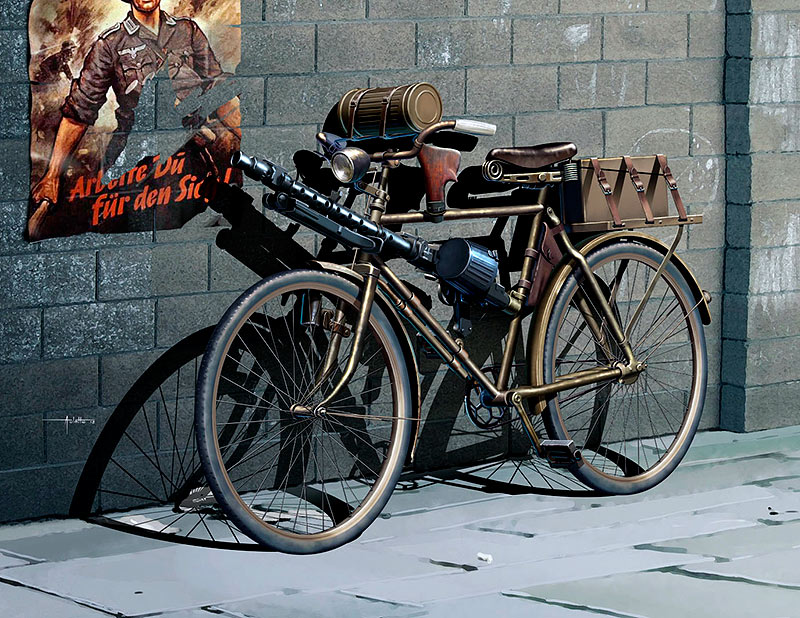 German military bicycle, WW II era /35165/