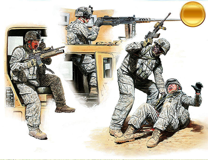 Man Down! US Modern Army, Middle East, Present day /35170/