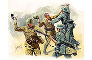 Frontier fight of summer 1941, hand to hand combat (4 fig.)
