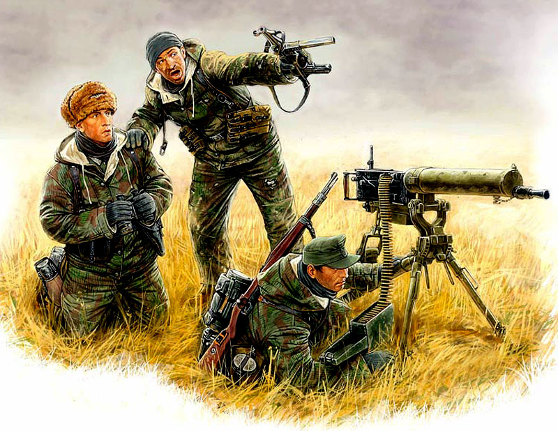 German Machine-Gunners, Eastern front 1944 /3526/