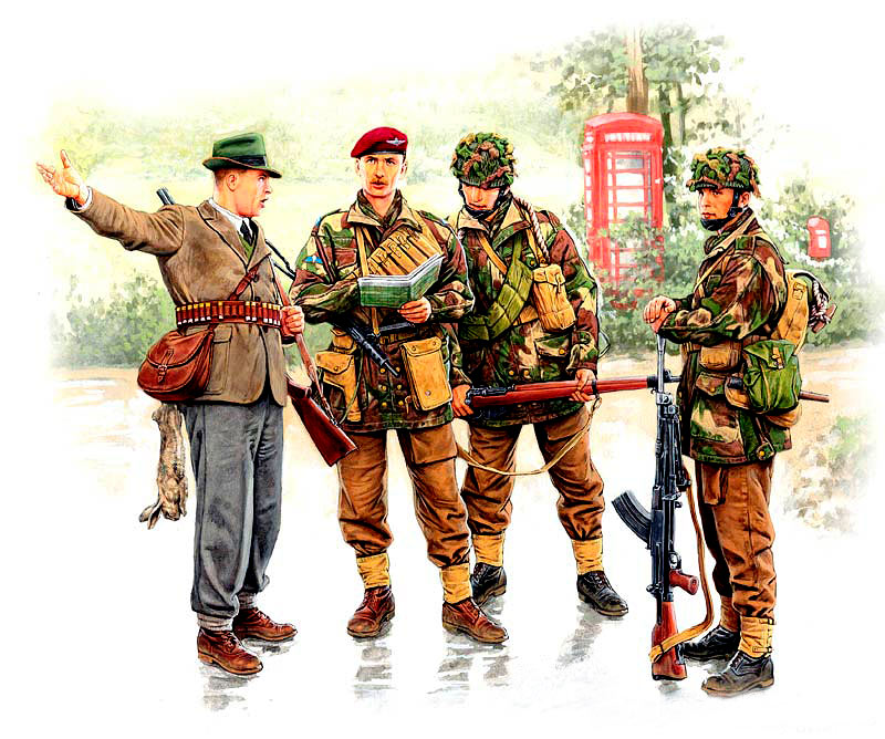 British paratroopers, 1944. Kit 1 /3533/