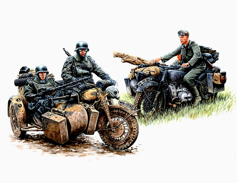 Kradschutzen: German Motorcycle Troops on the Move /3548/