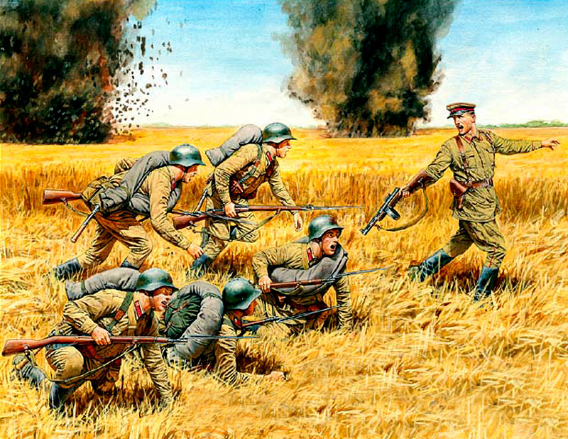 Counterattack, Soviet Infantry, Summer 1941 /3563/