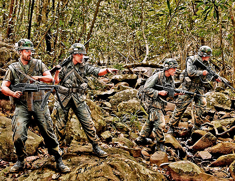 Jungle Patrol, Vietnam War series /3595/