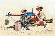 Vickers Machine Gun team, North Africa Desert Battle Series, WW II era /3597/