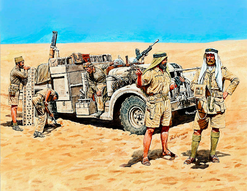 LRDG in North Africa, WWII /3598/