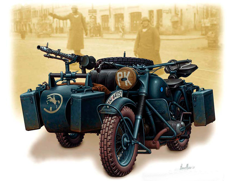German motorcycle, WWII /3528/