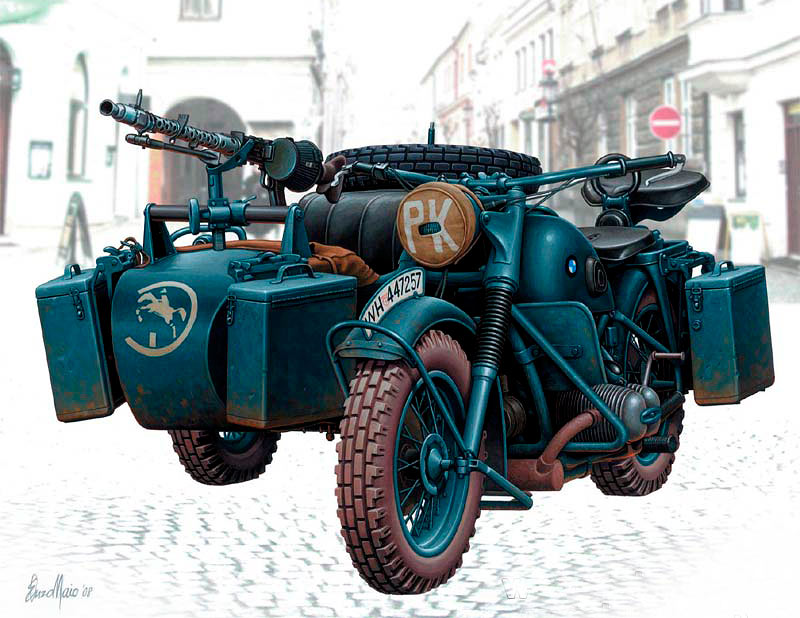 German Motorcycle, WWII /3528f/