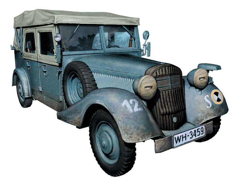 Sd. Kfz. 1 Type 170 VK, German Military Staff car, WW II Era /3530/