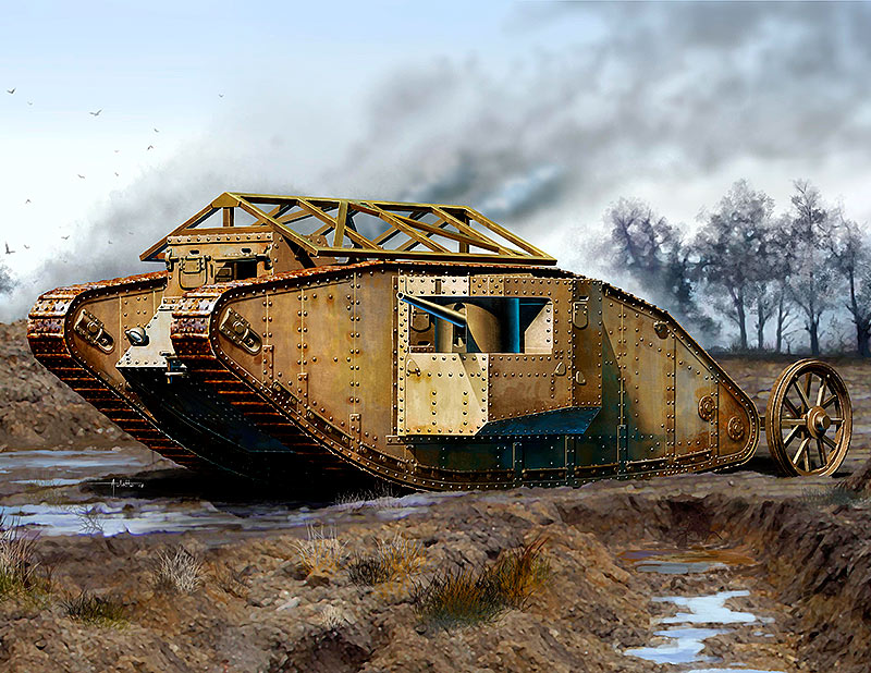 MK I Male British Tank, Somme Battle period, 1916 /72001/