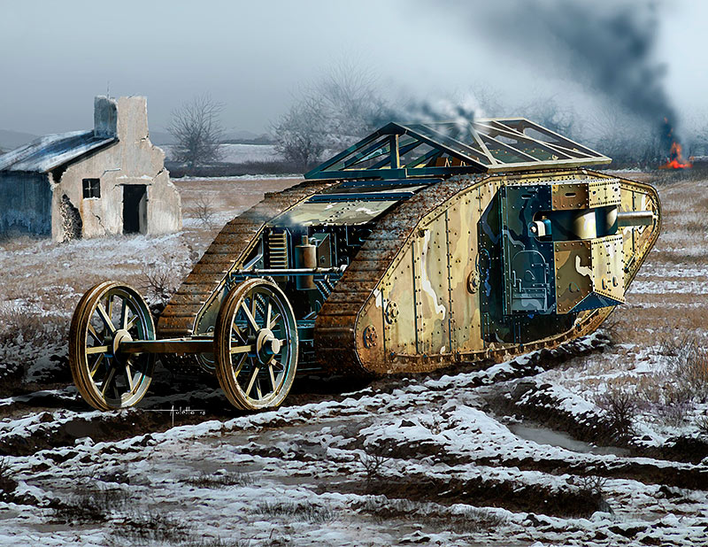 MK I Female British Tank, Somme Battle period, 1916 /72002/