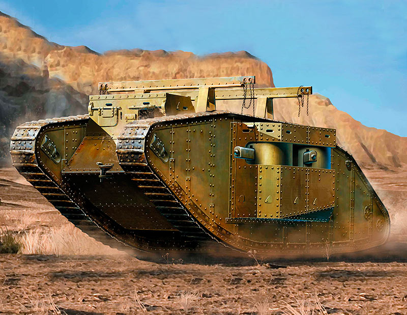 MK I Female British Tank, Special Modification for the Gaza Strip /72004/