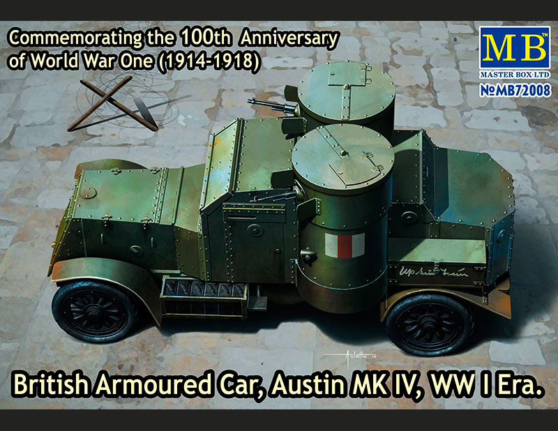 British Armoured Car, Austin, MK IV, WW I Era /72008/