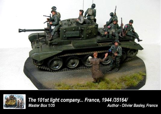 Masterbox 101 Light Company US Paratroopers and British Tankman 1944 1//35 Master Box 35164