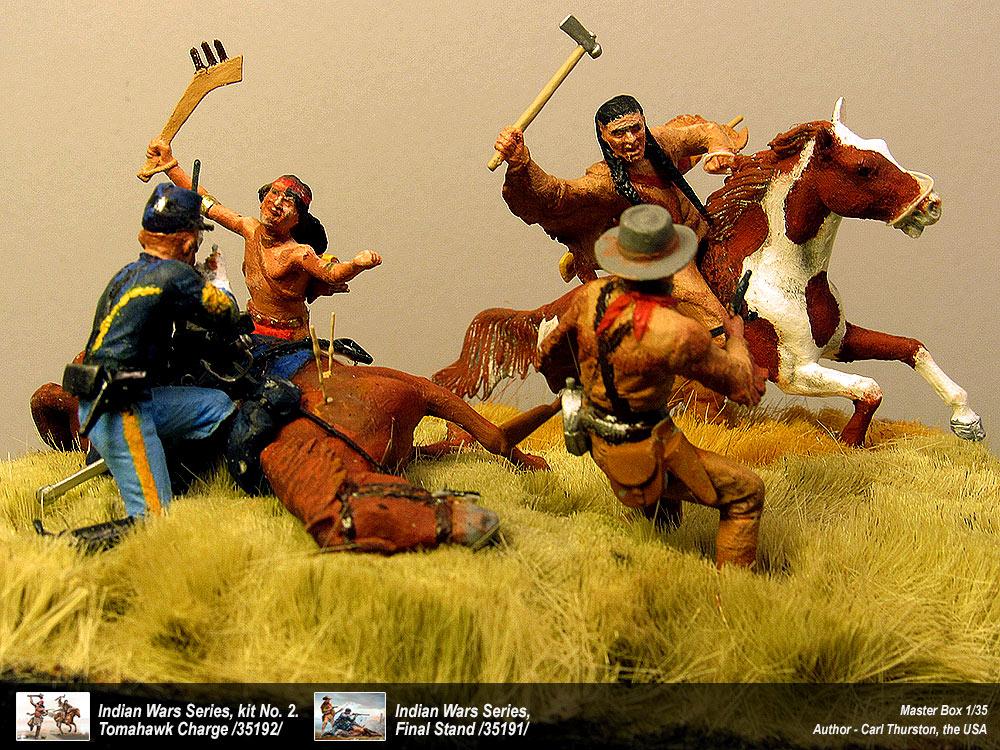 1//35 Master Box Indian Wars Series Kit No.1 Apache Attack
