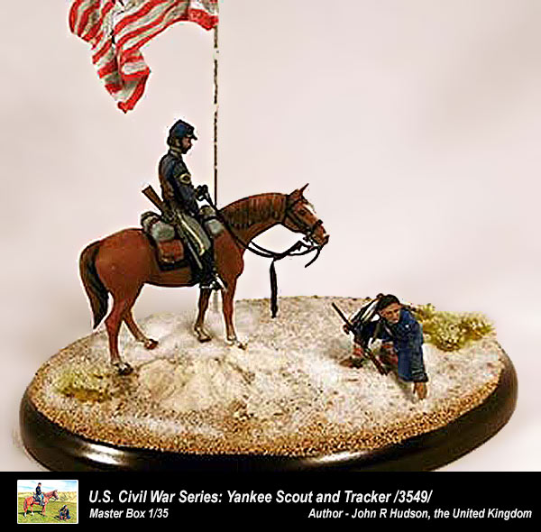 CIVIL WAR SERIES YANKEE SCOUT AND TRACKER 1//35 MASTER BOX 3549 DE U.S